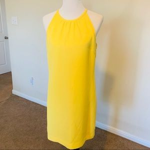 Banana Republic sunny yellow sleeveless dress,